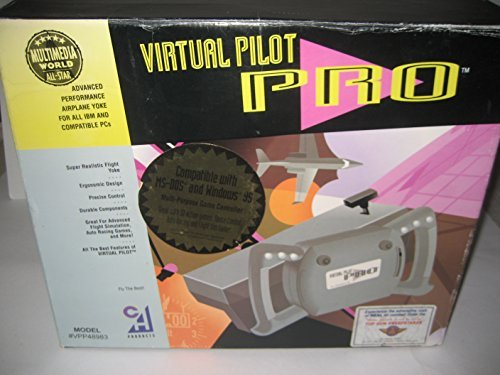 "CH Products ""Virtual Pilot Pro"" Yoke Joystick for Flight Simulator games Game Port"