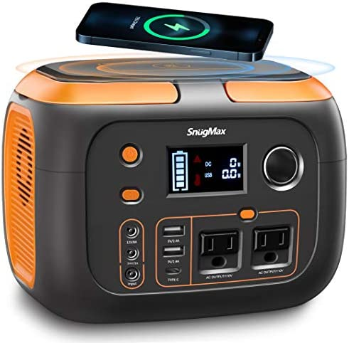 SNUGMAX Portable Power Station Vickers 350 80000mAh 350W Solar Generator with 110V AC Outlet product image