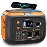 SNUGMAX Portable Power Station Vickers 350, 80000mAh, 350W Battery Generator with 110V/200W AC Outlet/2 DC Ports, Wireless Charging, Portable Power Generator for CPAP, Home Emergency, Camping