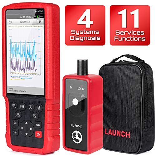 LAUNCH OBD2 Scanner CRP429c-Check Engine ABS SRS Transmission Injector Coding ABS Bleeding Oil Light EPB BMS SAS DPF and IMMO Reset - Free Update EL-50448 TPMS Active Tool as Gift