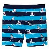 Schiesser Jungen Shark Fever Bade-Shorts Badeshorts, Blau (Admiral 801), (Herstellergröße: 104)