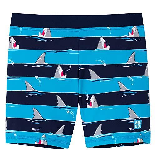 Schiesser Jungen Shark Fever Bade-Shorts Badeshorts, Blau (Admiral 801), 92 (Herstellergröße: 092)