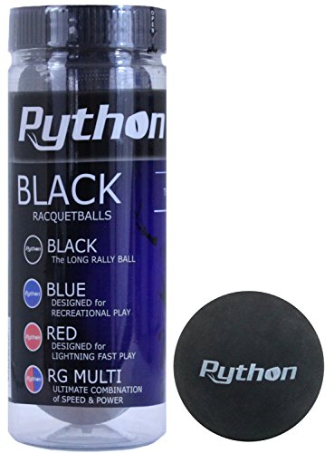 Python 3 Ball Can Black Racquetballs (Long Rally Ball!) (1)