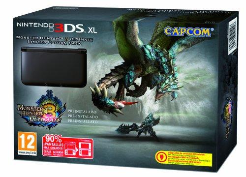 Nintendo 3DS - Consola XL, Color Negro (Incluye Monster Hunter 3)