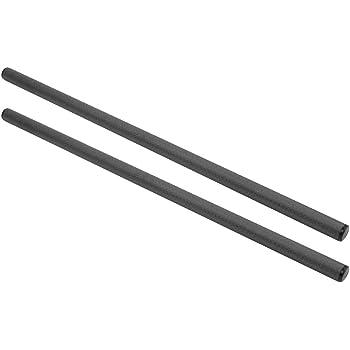 2x 15mm Rod Schwarz Kohlefaser Stützstangen 25cm Lange für Schulter Rig