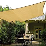 HAIKUS Voile d'ombrage Rectangulaire 3x2, Toile Ombrage HDPE dombrage 2x3 98% Respirant Protection Rayons UV pour Jardin Terrasse 2m x 3m, Sable