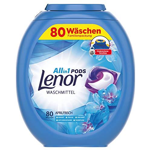Lenor All-in-1 PODS Waschmittel Aprilfrisch, 80Waschladungen