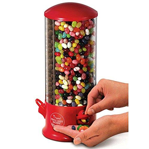 Dispenser / Distributore di Caramelle o Noccioline a 3 scompartimenti - 29 X 13 cm