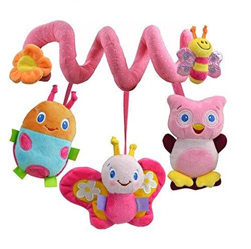 Lamaze Activiteit Spirale/Sozzy multifunctionele muziek wieg rond puzzel bed bel 0-2 jaar oude baby wieg rustgevende pop veiligheid spiegel