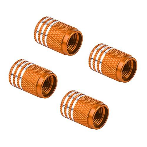 Tapas De VáLvulas De NeumáTicos 4 PCS / LOTE Rueda de automóvil Tapas de válvulas de neumático Cubiertas de aluminio 1.6 * 1 cm Air Fugas a prueba de látigos Tapas de neumáticos a prueba de neumáticos