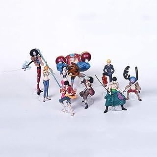 模型玩具 9PCS ONE PIECE麦わら海賊団ルフィ/ゾロ/サンジ/ウソップ/ナミ/ロビン・PVCアニメ漫画ゲームのキャラクターモデルスタチューフィギュア玩具グッズジュエリーギフト好きなことでアニメファン プレゼントを集める