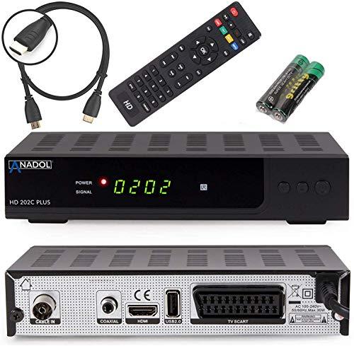 Anadol HD 202c Plus PVR Aufnahmefunktion-Timeshift digitaler Full-HD 1080p Kabel-Receiver für digitales Kabelfernsehen (HDTV, DVB-C / C2, HDMI, SCART, Mediaplayer, USB 2.0)