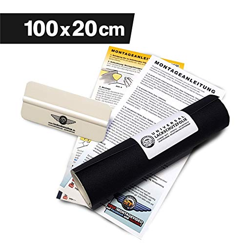 Lackschutzshop - Lackschutzfolie Schutzfolie Klebefolie schwarz matt universal 200x1000mm selbstklebend 150µm