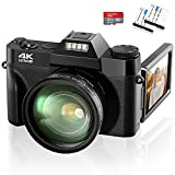 4K Digital Camera 48MP Video Camera, 16X Digital...
