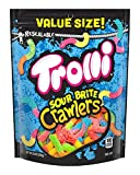 Trolli Sour Brite Crawlers: Trolli sour gummy worms in neon colors & sugar coating pack a punch of tangy sweetness in weirdly-awesome fruity flavor combinations like orange-lime, cherry-lemon, & strawberry-grape. Sour gummy worms: We think of Sour Br...