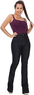 Calça Flare Jeans Feminina Super Lipo Sawary Com Cinta Modeladora