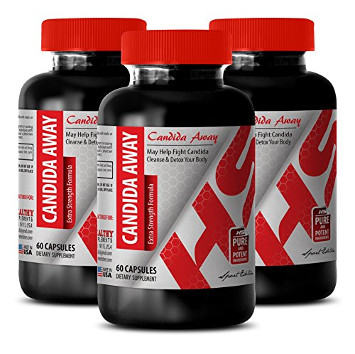 Wormwood Black Walnut Extract - Candida Away Complex 1175 MG - Deal with Candida (3 Bottles)