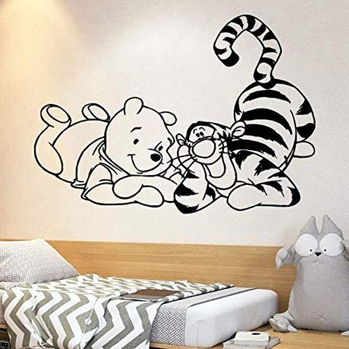 Anime oso tatuajes de pared saltando cerdo piggy dibujos animados vinilo pegatinas de pared niños niños niñas dormitorio guardería habitación de bebé decoración para el hogar arte