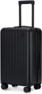 Luggage, Carry On Luggage with Spinner Wheels, Hardshell Suitcase for Travel with Built in TSA Lock Black