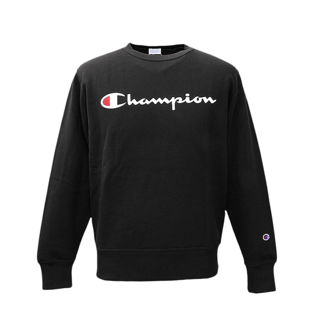 立ち寄るエイリアス演じるChampion チャンピオン メンズ クルーネック スウェットシャツ トレーナー C3H004 BLK Lサイズ