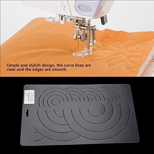 MAGT Modello per trapuntatura, Modello per trapuntatura con Stencil in plastica Strumento per Cucire a Mano Semplice ed Elegante