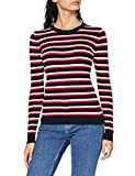 Photo de Tommy Hilfiger Th Ess Cable C-NK Sweater Ls, Desert Sky/White/Primary Red, M Femme