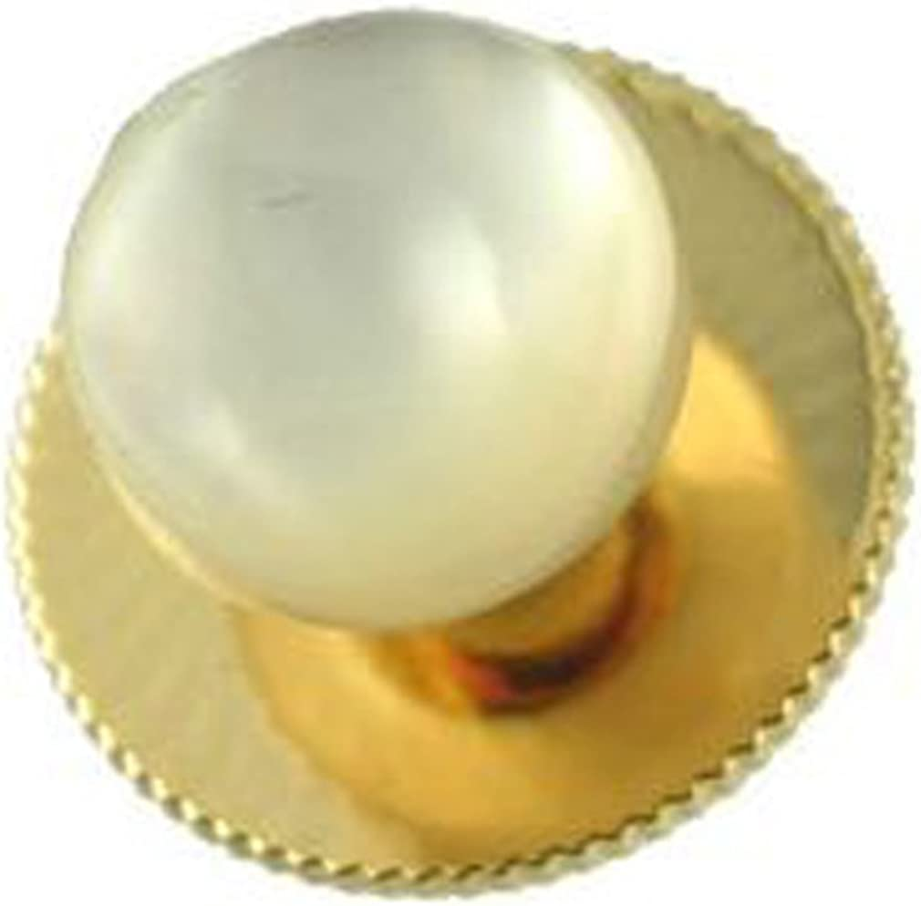 Select Gifts Round Mother of Pearl Dress Studs Gold-Tone (5 Pack) in Black Box