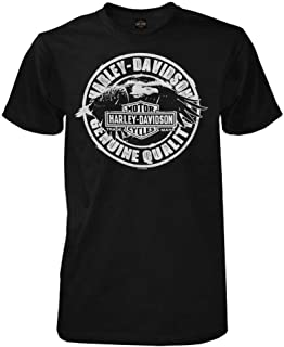 HARLEY-DAVIDSON Men's T-Shirt, No Rules Eagle Short Sleeve, Black 30294027