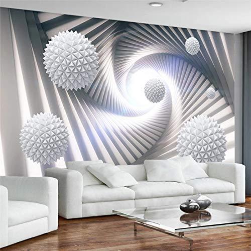 Papel tapiz mural 3D personalizado, papel tapiz con foto de fondo de TV de sala de estar, bola espacial tridimensional abstracta moderna, Mural 140x100cm