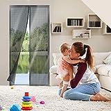 Cyttengo Magnetic Screen Door, Magic Mesh Screen Door, Door Net Screen with Magnets Full Frame Fits Door up to 37 x 81 inch - Polyster Black