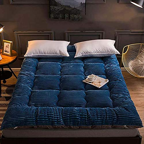 Mattresses Futon Thicken Futon Floor Mattress Soft Folding Portable Mattress Double Single Japanese Futons,Japanese Tatami Roll Mat Foldable Mattress/Blue / 150x200cm