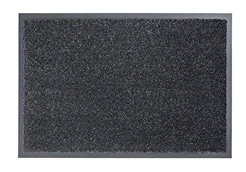 Carpido strapazierfähige Schmutzfangmatte Clara – rutschfeste Türmatte – Fußmatten für den Innenbereich – Eingangsmatte – Vorleger (grau, 40x60cm)