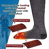 CAVEEN Beheizbare Socken für Damen und Herren, Beheizte Socken mit Akku Baumwolle Heizsocken Beidseitige Beheizung 3 Gänge Fußwärmer Erwärmbare Socken für Zuhause Outdoor Sports(L) - 5