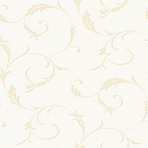 Graham & Brown 20-727 Athena White Gold Wallpaper