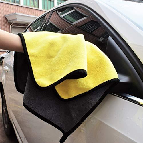洗車ツール 30×30センチメートルマイクロファイバー吸水クリーニング乾燥きれいな布洗濯カーケアウォッシュタオルXML