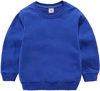 Toddler Boys Girls Sweatshirt Hoodie Top Solid Color Unisex