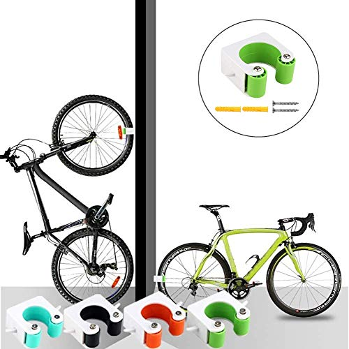 Creative bike parking Buckle Indoor,Portable Bike Storage Holder Wall Mount Hanger with Buckle Design Space Saving for Road Bikes and Mountain Bikes (Road Bike, Green)