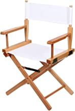 Lightweight Photography Accessories Portable Folding Director Makeup Chair (Color : White)
