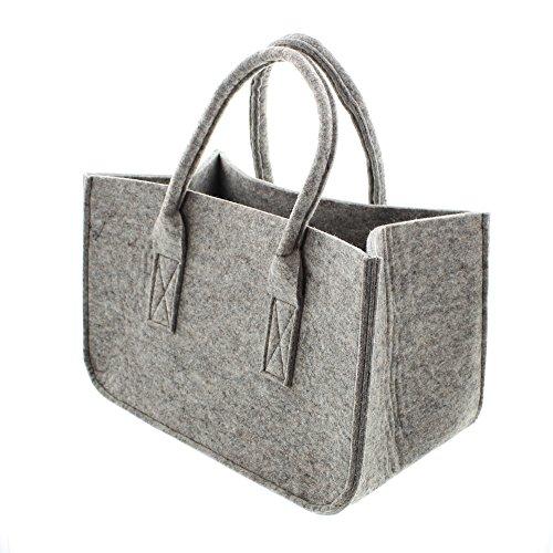 FRANK FLECHTWAREN Filz-Tasche Grey
