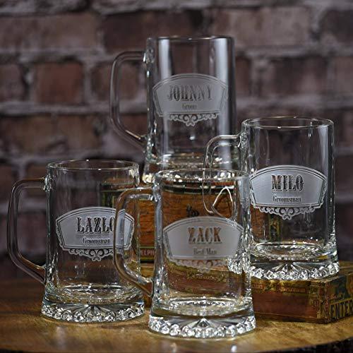 Groomsmen Gift Ideas, Best Man Beer Mugs Set Of 7