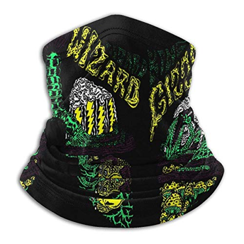 Unisex King Gizzard and Lizard Wizard Outdoor Face Mouth Bandana Face Mouth Cover Neck Gaiter Scarf Sports Pasamontañas Headwear Negro