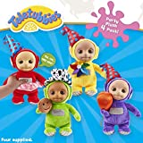 Teletubbies Party Plush 4 Pack Paquete de 4 Unidades, Multicolor (Character Options 07062)