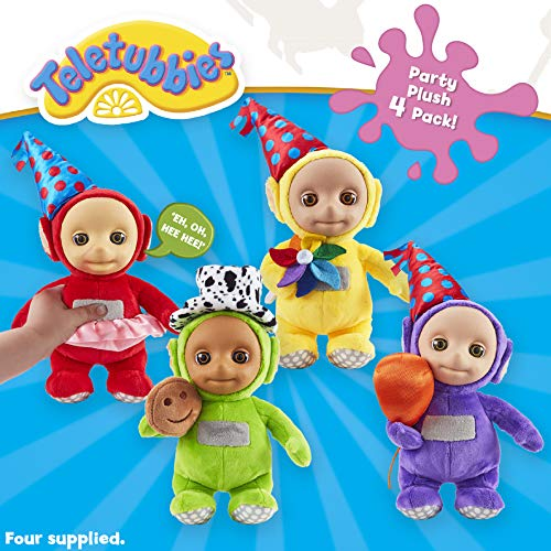 Teletubbies 07062 Party pluche, 4 stuks, meerkleurig