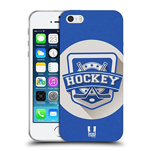 Head Case Designs Hockey Sportabzeichen Soft Gel Hülle für Apple iPhone 5 5s