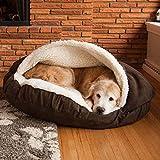 ZINN Luxus Hundehöhle Orthopädisches Höhlenbett,Kuschelige,mit reißverschluss,Kaschmir,Höhle...