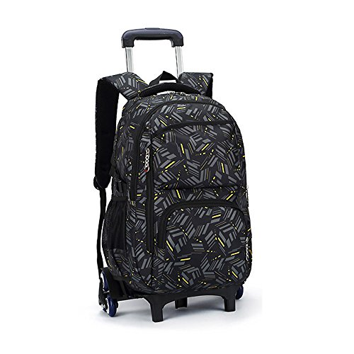 Blanketswarm Rolling zaino su ruote ad alta capacità, per la scuola per bagaglio scuola viaggio libro portatile, perfetto per uomini e donne, taglia unica, A3, 12.6X19.3X7.1 inches