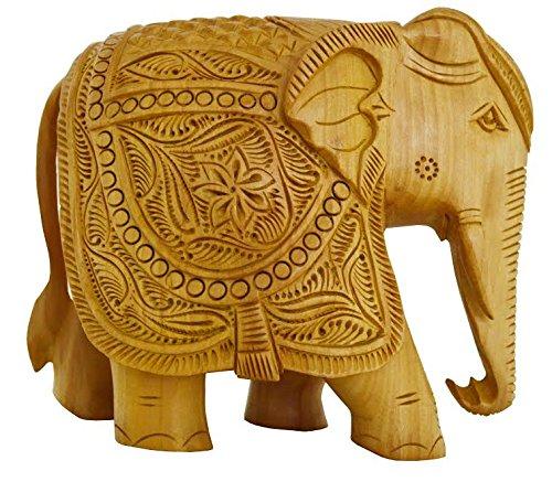 Zap Impex ® Elefante Decoración handgeschnitzte