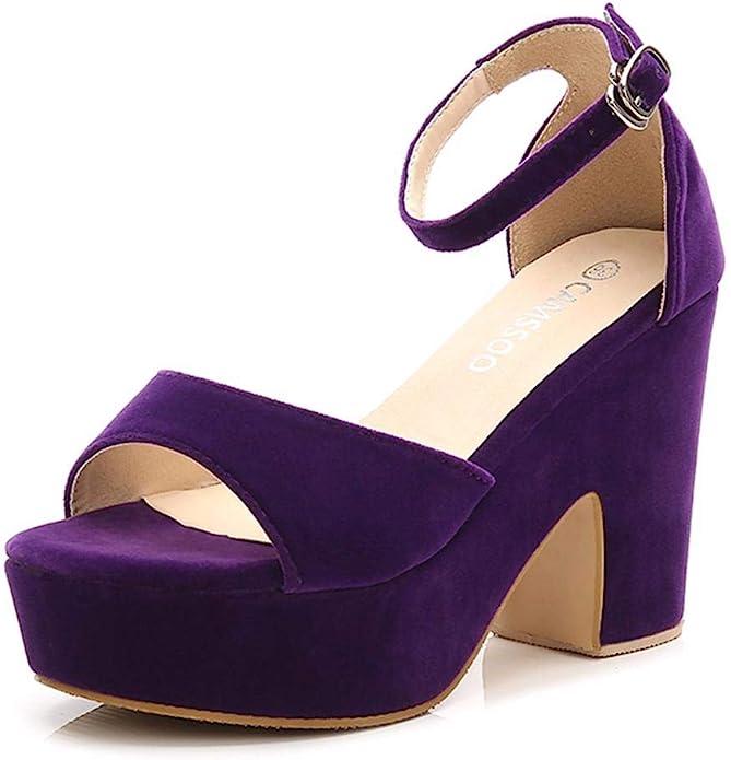 70s Shoes, Platforms, Boots, Heels | 1970s Shoes Womens Platforms Wedges Sandals Suede Open toe Ankle Strap Block Chunky High Heels Pumps Shoes  AT vintagedancer.com