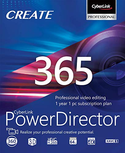 CyberLink PowerDirector 365 | 12 Months | PC | PC Activation Code by email