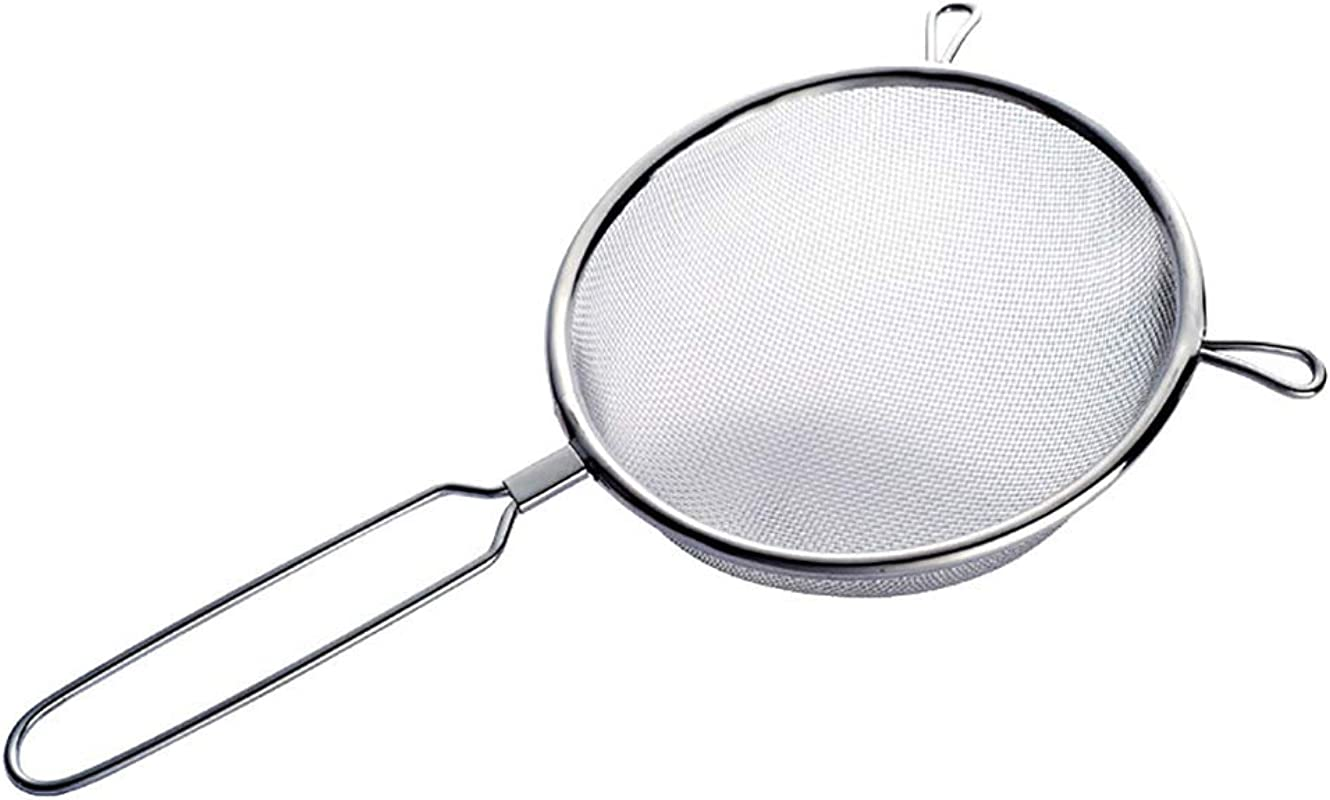 Eroute66 Large Stainless Steel Fine Mesh Strainer Kitchen Cooking Tool 10 Inch